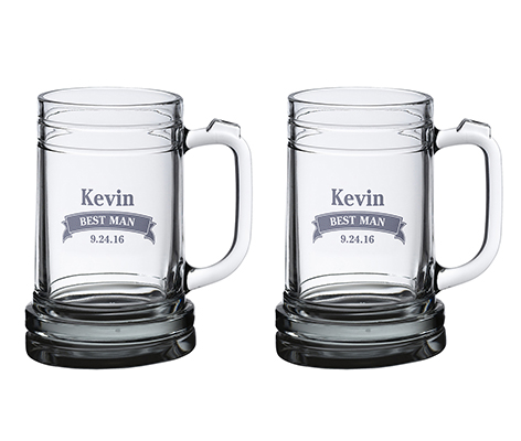 Personalized Banner Wedding Beer Mugs Table Decor