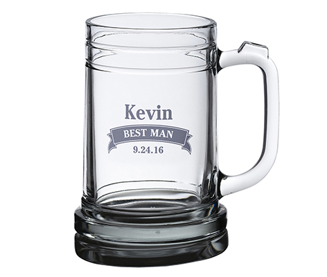 Personalized Banner Wedding Beer Stein Mug