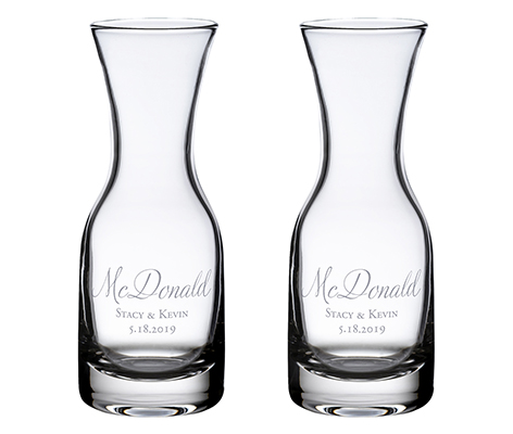 Personalized Script Wine Carafes Table Decor