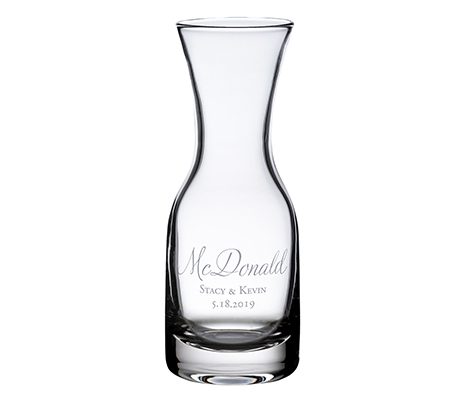 Personalized Script Wine Carafe Table Decor
