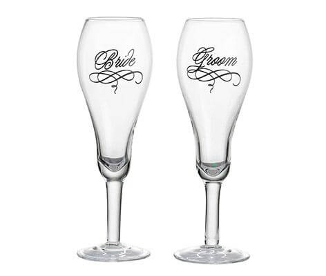 Bride and Groom Wedding Toasting Glasses