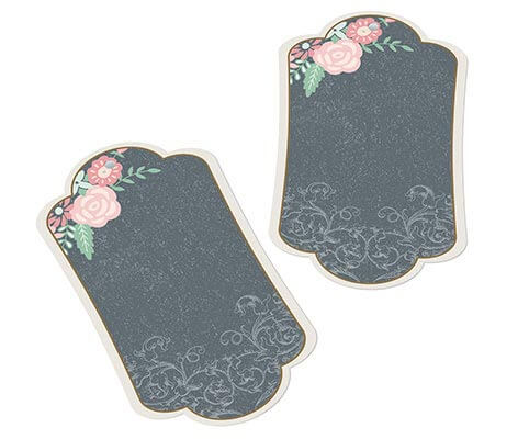 Guest Book Alternative Vintage Chalkboard Key Tags