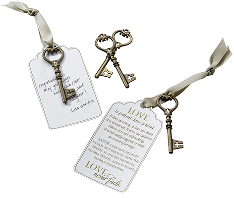 Guest Book Alternative Christian Bronze Key Tags