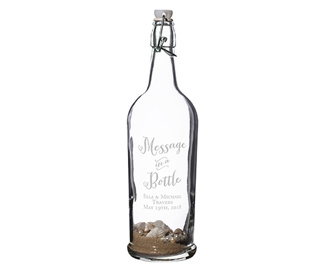 Personalized Message in Bottle Wedding Guest Book