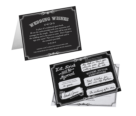 Guest Book Alternative Black Wedding Advice Cards