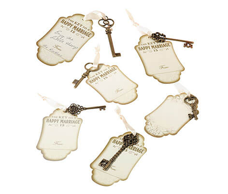 Guest Book Alternative Vintage Bronze Key Tags