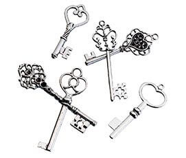 Wedding Guest Vintage Silver Key Keepsake Favors