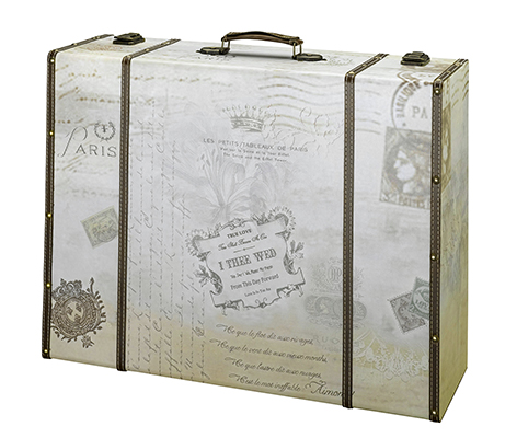 Vintage Antique Suitcase Wedding Card Box
