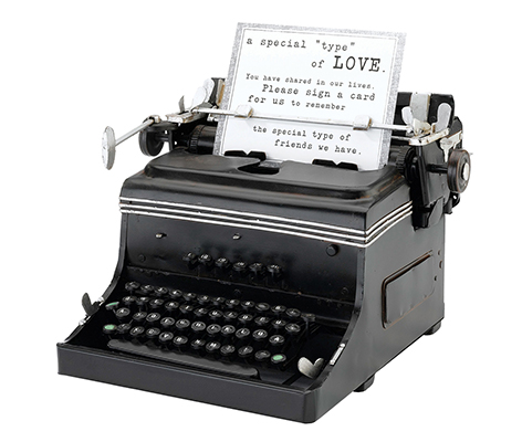 Vintage Mini Replica Typewriter Wedding Decor