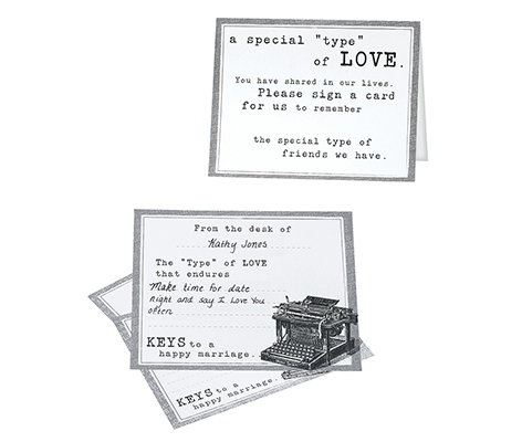 Vintage Typewriter Cards Guest Book Alternative