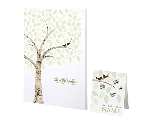 Wedding Guest Book Alternative Signing Tree Canvas