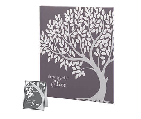 Wedding Tree Guest Book Alternative Signing Tree in Black and Gray