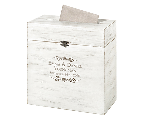 Personalized Rustic Wooden Wedding Card Box