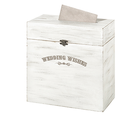 Wedding Wishes Rustic Wooden Card Box