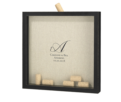 Personalized Vineyard Cork Guest Book Alternative