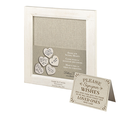 Small Drop Top Guest Signing Frame Personalized
