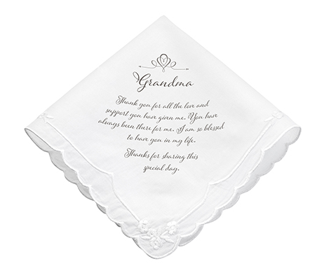 Grandma Verse Wedding Gift Keepsake Hankie