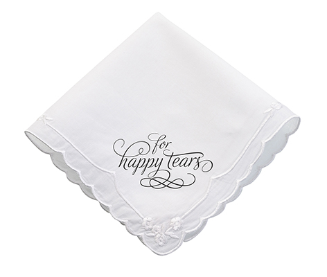 Wedding Happy Tears Keepsake Hankie Favor