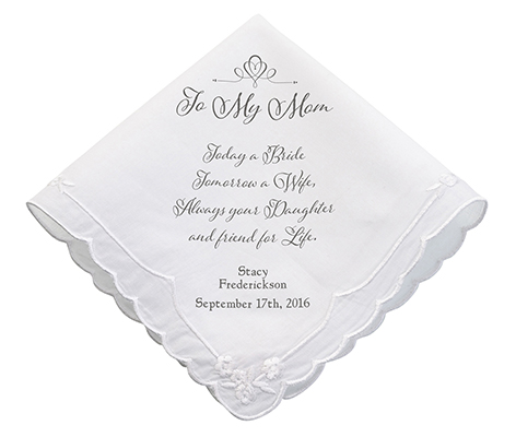 Personalized Mom Verse Wedding Gift Hankie