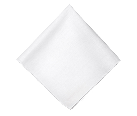 Men's Plain White Cotton Wedding Gift Hankie