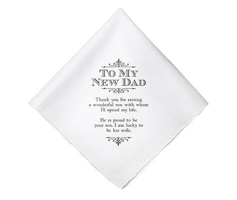 New Dad Verse Wedding Gift White Keepsake Hankie