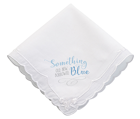 """Something Blue"" Wedding Hankie"