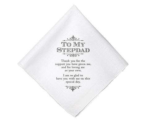 Stepdad Wedding Gift White Cotton Keepsake Hankie