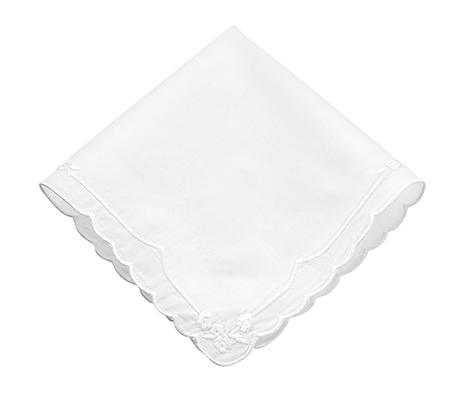 Women's Plain Embroidered Wedding Gift Hankie