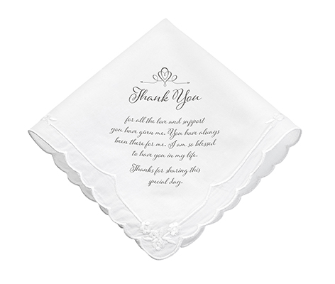 Women's Thank You Wedding Gift Keepsake Hankie