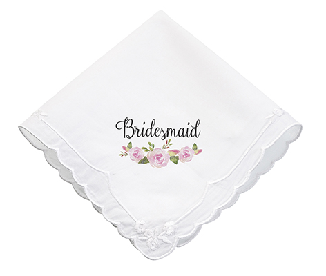 Watercolor Flower Bridesmaid Wedding Gift Hankie