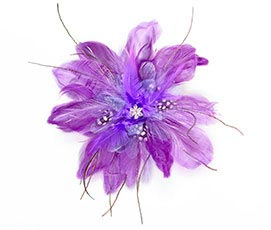Purple Feather Fascinator Hair Accessories Clip