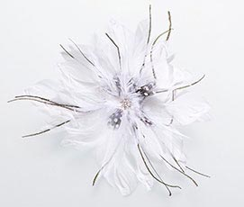 White Feather Fascinator Hair Accessories Clip