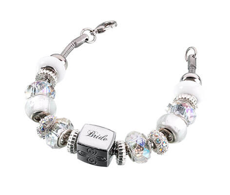 Bride Charm Bracelet Wedding Gift