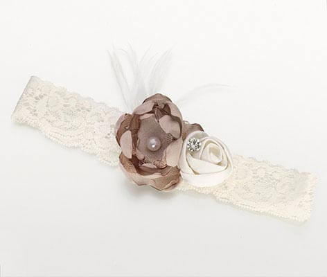 Vintage Lace Ivory Prom Wedding Garter
