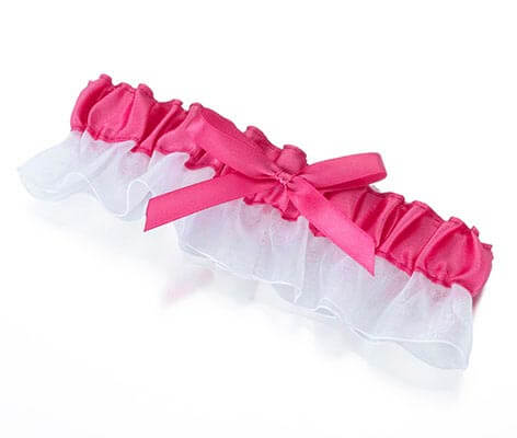 Satin Prom Wedding Garter Pink