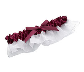 Satin Prom Wedding Garter Dark Purple Plum