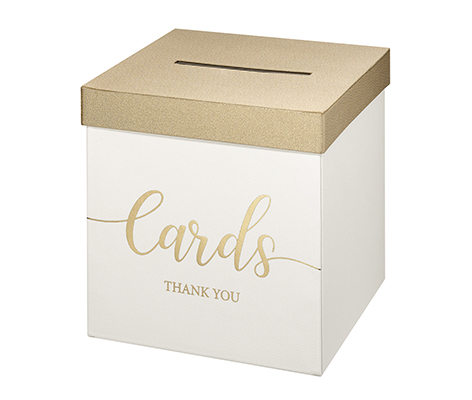 Ivory Wedding Card Money and Gift Box