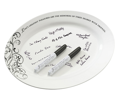 Wedding Guest Book Alternative Ceramic Sign Plate