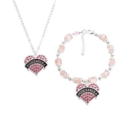 Quince Anos 15 Party Bracelet and Necklace Set