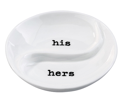 """His Hers"" Ring Dish"