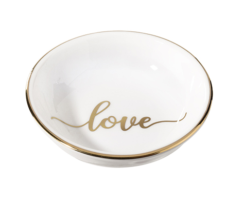 Love Ceramic Ring Dish