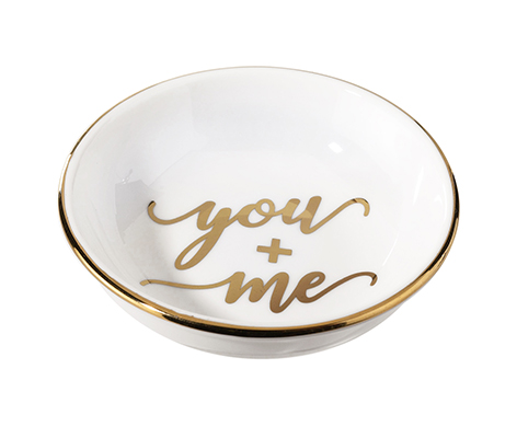 You and Me Ceramic Ring Dish