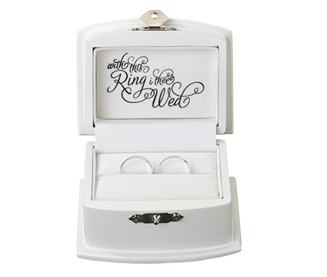 Rustic Wood Wedding Ring Bearer Alternative  Box
