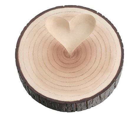 Ring Pillow Alternative Wood Tree Ring Holder