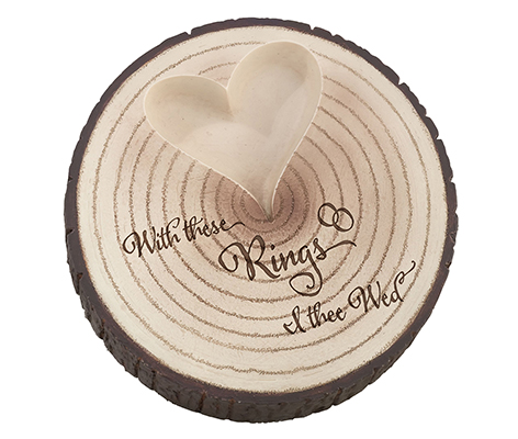 Wood Slice Tree Trunk Wedding Ring Holder