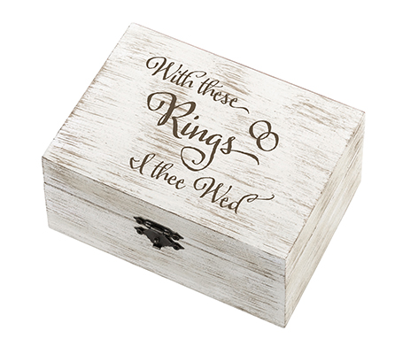 Rustic Wedding Rings and Vows Box