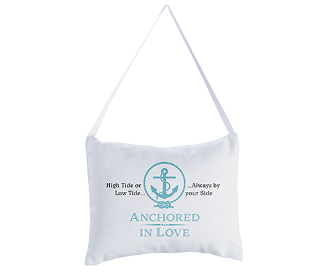 Coastal Beach Anchor Wedding Ring Pillow
