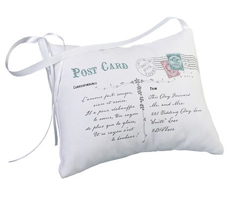 Vintage Post Card Wedding Ring Pillow