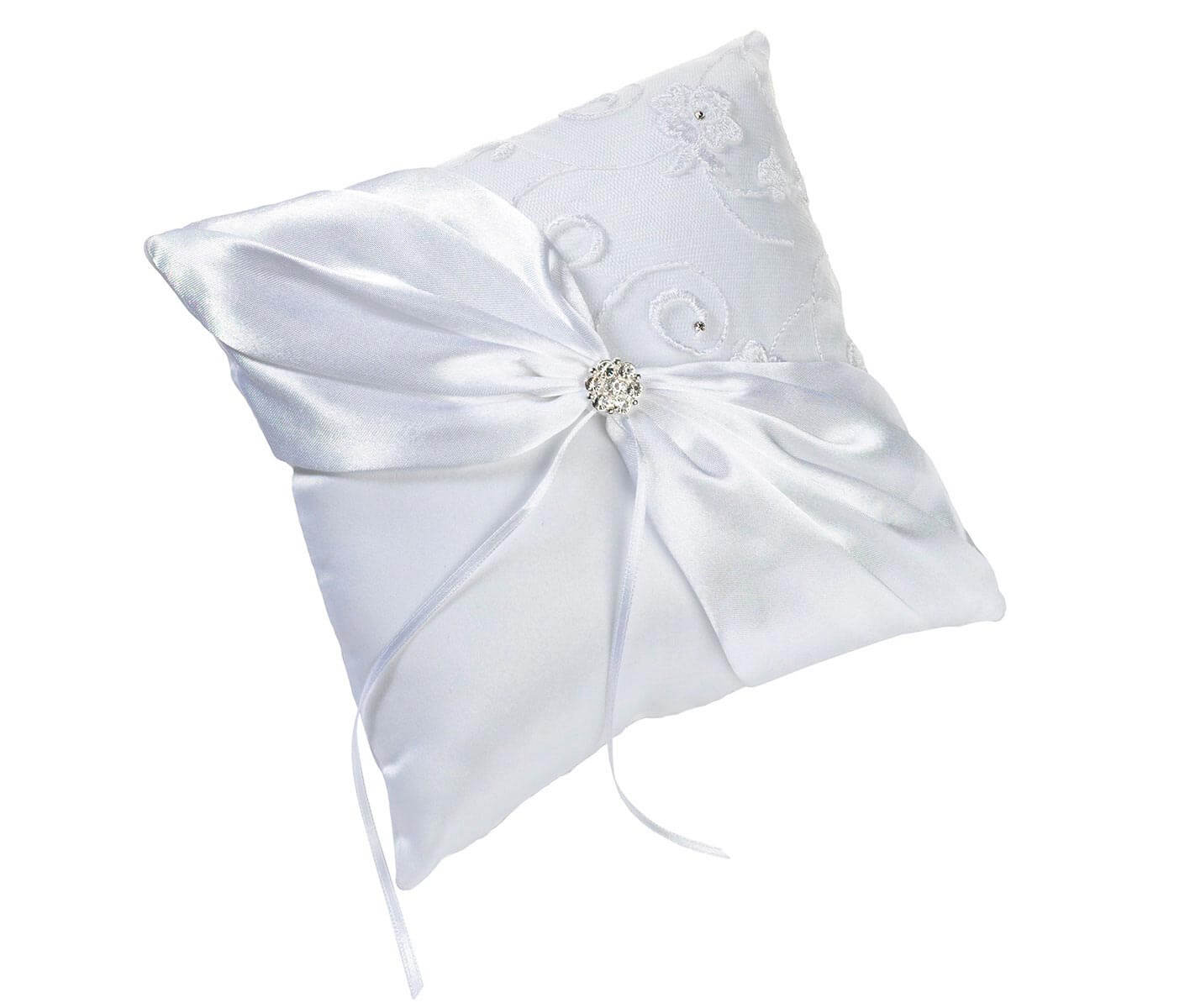 pillow itm a bearer ring double rhinestone gift details about heart bedroom wedding cushions