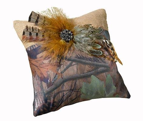 Rustic Camouflage Wedding Ring Pillow